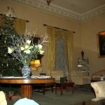 Christmas tree in the drawing room