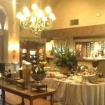 Main Lobby set up for breakfast.  What a nice spread!