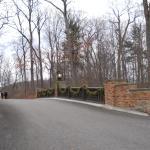 Bridge to cottages