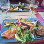 Prato de peixes diversificado