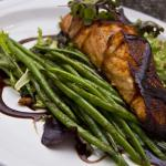 Bronzed Fresh Salmon with Haricots Verts