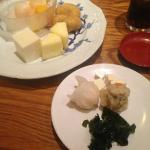 Meat dumplings and some desserts at Ichiban