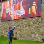Em frente ao museu