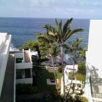 Vista de terraço superior do hotel