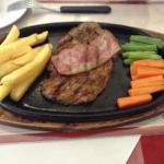 Yummy pork tenderlion chop