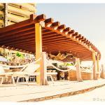 Poolside bar and ramada near the beach