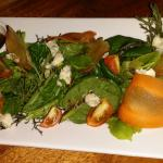 tomato salad with blue cheese