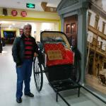 Model of old China carriage