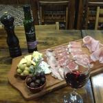 delicious picada plate with fresh homemade bread...