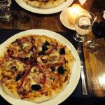 We loved this pizza from the italian owner! Normally we can't finish such a big pizza, but this