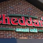 Sign our front of Cheddar's Cafe