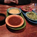Dipping Platter .. $5.00 includes queso, pico and quac and you get to choose ther 4th one