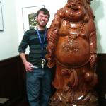Visiting the Buddha at Peking Gardens Free a great meal of volcano shrimp, etc