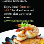 New Menu at Classico for 2015