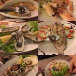 Un po di antipasti di pesce!!
