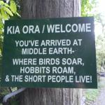 Welcome Sign at the Sanctuary