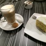 Latte and lime cake