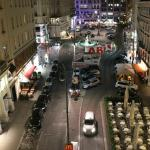 View form our room at night, the excellent Oberla patisserie on the bottom right (don't miss it)