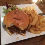 Burger with pulled pork