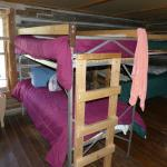 One of the men's dorms. There were four bunks in this room.