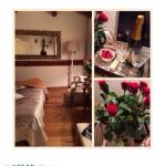 Rigoletto Room red roses and champagne! ❤️ thanks