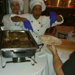 Chef's hard at work - making guests happy