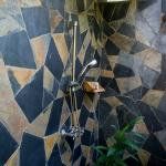 Outdoor slate shower as decadent as Lifestyles of the rich and famous!