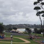 park and beach infront