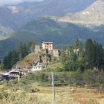 Drukgyel Dzong from a distance.
