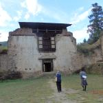 Ruins of a structure inside the Dzong