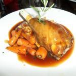 lamb shank with mash and fontenay carrots
