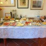 Display of Anna's wonderful breakfast, which was beautifully arranged and wonderfully fresh