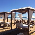 Day beds on the beach