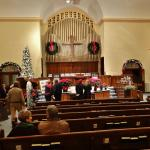 The scantuary for the Christmas Candlelight Tour