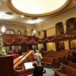 Another view of the scantuary for the Christmas Candlelight Tour