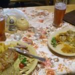 ziobra janosika, placek po zbójnicku, a do picia piwo z bombom i śliwowica ;)