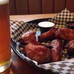 Smoked wings and beer