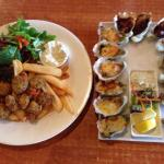 Fresh scallops and oysters 4 ways Bruny island hotel