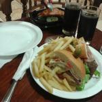 una cena rapida, de promocion, barata y rico en el hotel