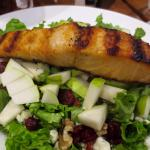 Delicious fall salad with salmon