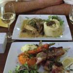 Brochettes de Saint-Jacques et poularde
