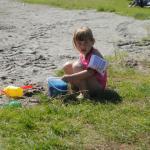 Lek i strandkanten