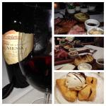 Favorite Siena Wine, Dough boy dessert and the meat, cheese and olive appetizers!