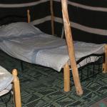 inside tent - beds