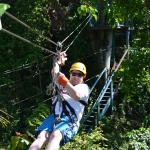 The first zipline we did