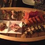 """Sushi a-la-chef - served in """"boat"""" as starter for two"""