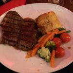 The steak