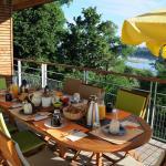 La terrasse du petit déjeuner