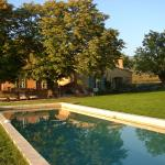 Large pool (15 x 5 meters) with chestnut shade trees nearby.