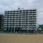 This is a view of our hotel from the beach.